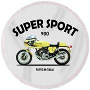 Ducati 900 Super Sport Round Beach Towel