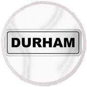 Durham City Nameplate Round Beach Towel