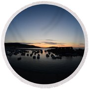 Early Morning Lyme Regis Round Beach Towel