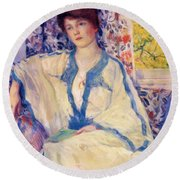 Early Morning Summertime 1920 Round Beach Towel