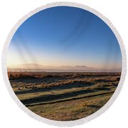 Early Morning Sunrise In Clarens Round Beach Towel