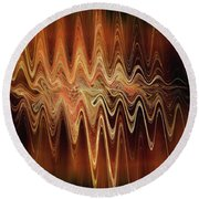 Earth Frequency Round Beach Towel