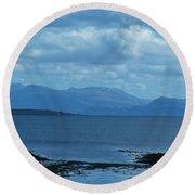 East Shores Of Isle Of Skye Round Beach Towel