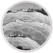 Eden Project Biome  Round Beach Towel