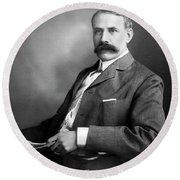 Edward Elgar Studio Portrait Round Beach Towel
