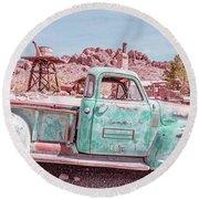 Eldorado Ghost Town Searchlight Nevada Pano Round Beach Towel