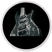 Electric Guitar Musician Player Metal Rock Music Lead Black Round Beach Towel