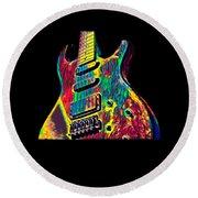 Electric Guitar Musician Player Metal Rock Music Lead Round Beach Towel
