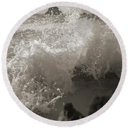 Elegant Coastal Splash Bermuda Round Beach Towel