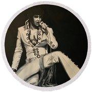Elvis 1970 - Concho Suit Round Beach Towel