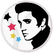 Elvis Presley 4 Round Beach Towel