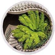 Embarcadero Stairway Round Beach Towel by Kate Brown