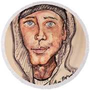 Eminem  Marshall Mathers Round Beach Towel