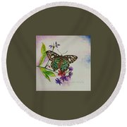 Enchanting Butterfly Round Beach Towel