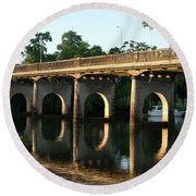 End Of An Era, East Innisfail Jubilee Bridge, Fnq Au  Round Beach Towel