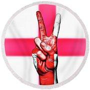 England Peace Flag Round Beach Towel
