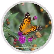 Equinox Butterfly  Round Beach Towel