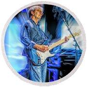 Eric Clapton Slowhand Round Beach Towel
