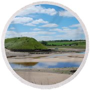 estuary on river Aln at Alnmouth Round Beach Towel