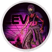 EV Round Beach Towel