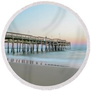 Evening Pastels Round Beach Towel