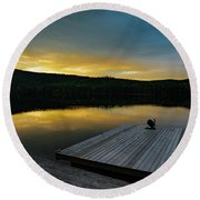 Evening Stillness Round Beach Towel