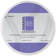 Eventdex- It's All About Event Management Round Beach Towel