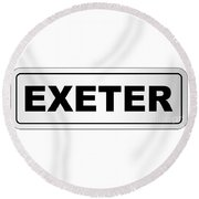Exeter City Nameplate Round Beach Towel