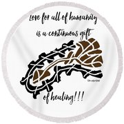 Existing In Peace 101 Round Beach Towel
