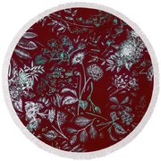 Exotic Harmony Round Beach Towel