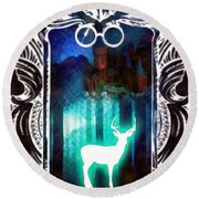 Expecto Patronum Round Beach Towel