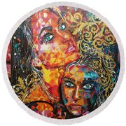 Expressions  Round Beach Towel
