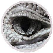 Eye Of Alligator Round Beach Towel