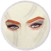 Makeup Art Painting Round Beach Towel