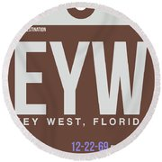 Eyw Key West Luggage Tag II Round Beach Towel