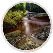 Fairy Glen Gorge Round Beach Towel