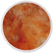 Fall Golden Hour- Abstract Art By Linda Woods Round Beach Towel