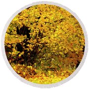 Fall To Grace Round Beach Towel