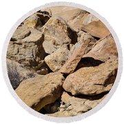 Fallen Sandstone Boulders Round Beach Towel