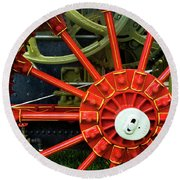 Fancy Tractor Wheel Round Beach Towel