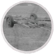 Farm Equipment  Round Beach Towel