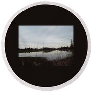 Farm Pond Round Beach Towel