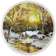 Feerie Winter Round Beach Towel