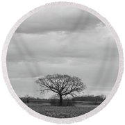 Fields Bode The Snow Round Beach Towel by Davor Zerjav