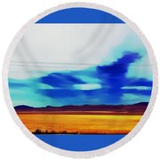 Fields Of Colorado Round Beach Towel