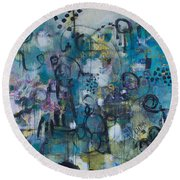 Finding Magnificence Round Beach Towel