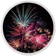 Fireworks 2019 One Round Beach Towel