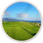 First Tee At Brora Golf Club, Moray Round Beach Towel