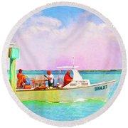 Fishing Bandit Round Beach Towel