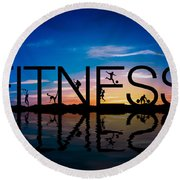 Fitness Concept Round Beach Towel